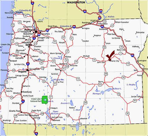 map of oregon and surrounding states image gallery oregon road map