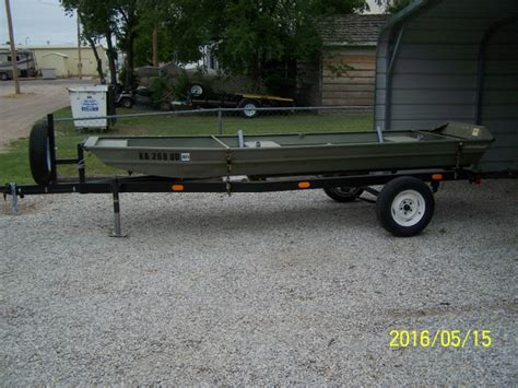 flat bottom boat for sale kansas 14 flat bottom boat and trailer nex tech classifieds