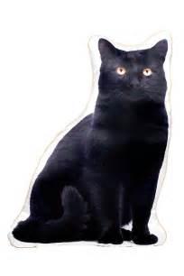 Cat Shaped by Black Cat Shaped Cushion
