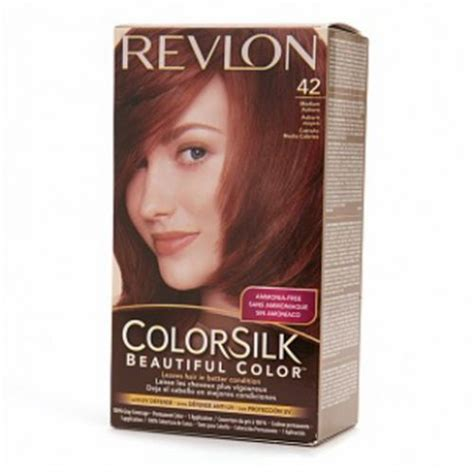 revlon colorsilk hair color dye medium auburn 42 hair