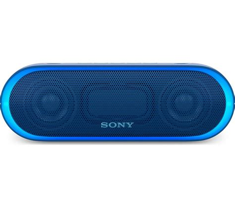 Bluetooth Sony buy sony srs xb20 portable bluetooth wireless speaker blue free delivery currys