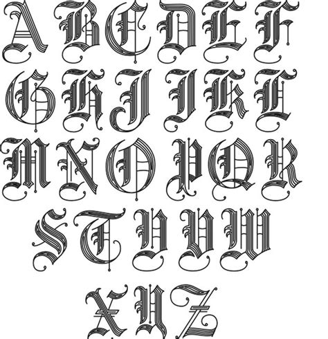 gothic tattoo alphabet tattoo fonts 2 jpg 621 215 643 tats pinterest letters