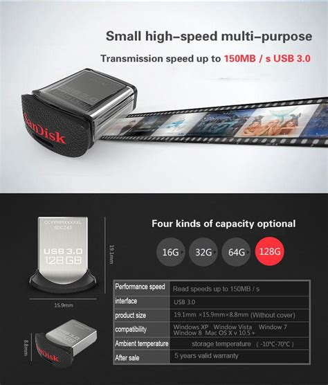 sandisk 100 original usb flash drive otg pendrive 128gb