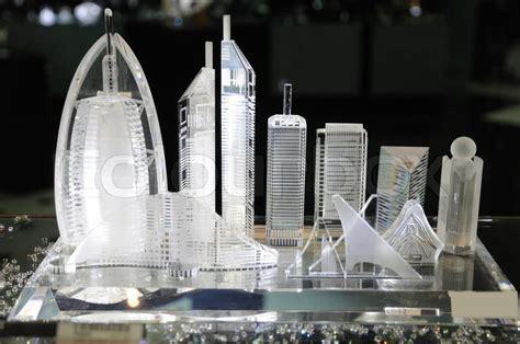 Souvenir Kaos Tower The Langon Dubai skyscrapers of dubai at souvenir shop stock photo colourbox