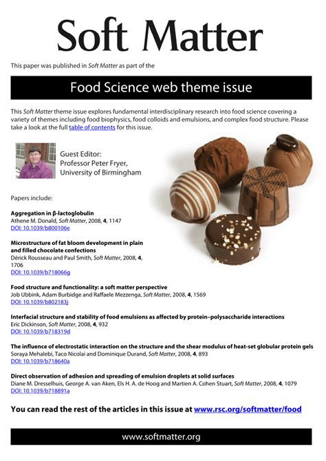 soft matter food structure and functionality a soft pdf