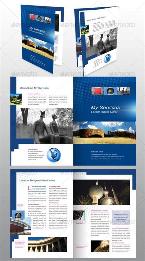4 page brochure template best photos of 4 page brochure template one page