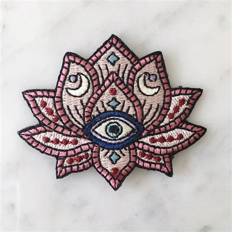 tattoo patches lotus evil eye patch by wildflower co patches