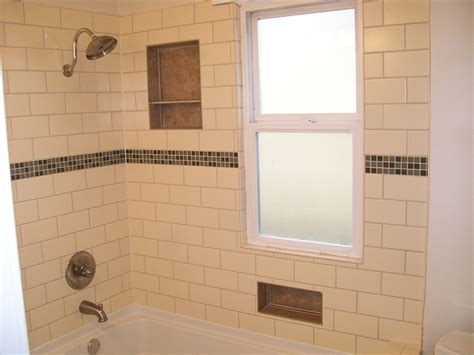 Bathtub Jetted Subway Tile Surround