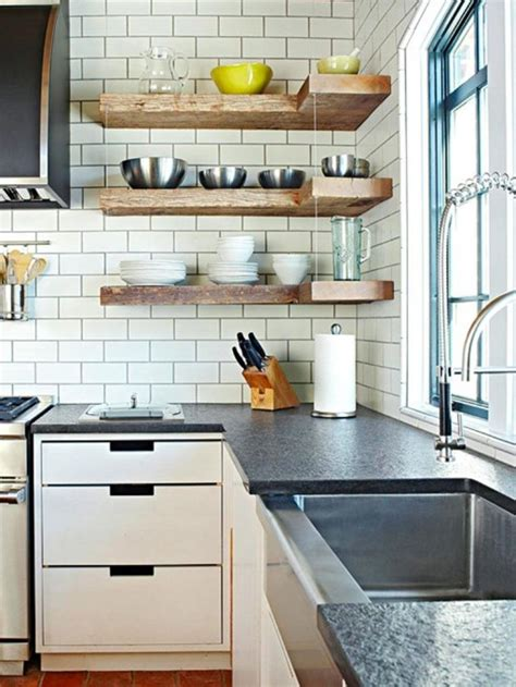 15 beautiful kitchen designs with floating shelves rilane