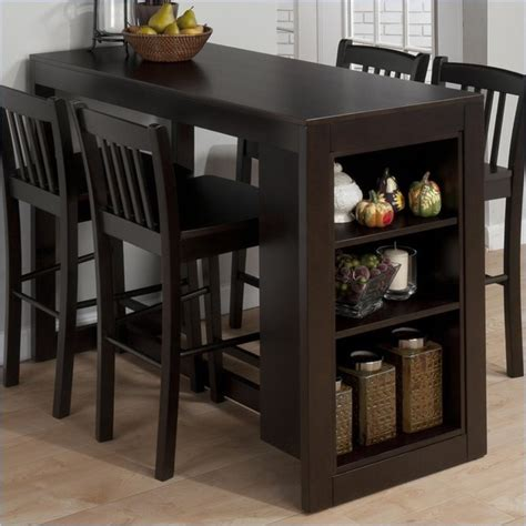 Counter Height Kitchen Tables With Storage Jofran Counter Height Table With Storage Maryland Merlot Transitional Dining Tables By Cymax