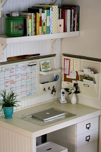 highly organized kitchen office space model home interior design