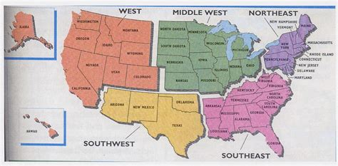 5 regions of the united states printable map tt amazing race home
