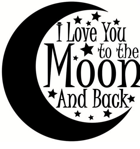 i love you to the moon and back svg cut file baby svg design