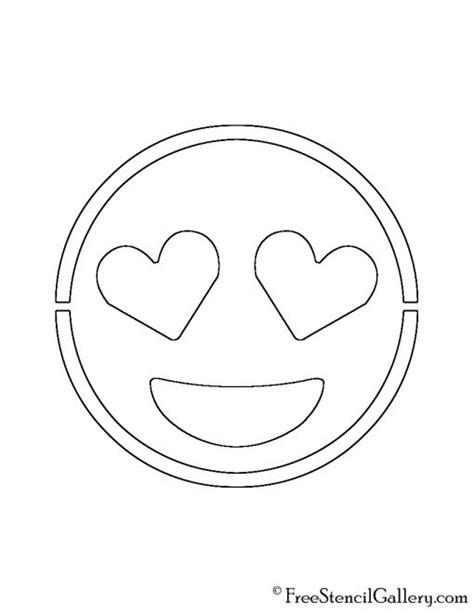 printable pumpkin stencils emoji emoji heart eyes stencil free stencil gallery