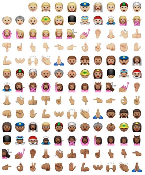 Iphone Emojis New Ethnically Diverse Iphone Emojis Added To Ios 8 3 By Apple Business Insider