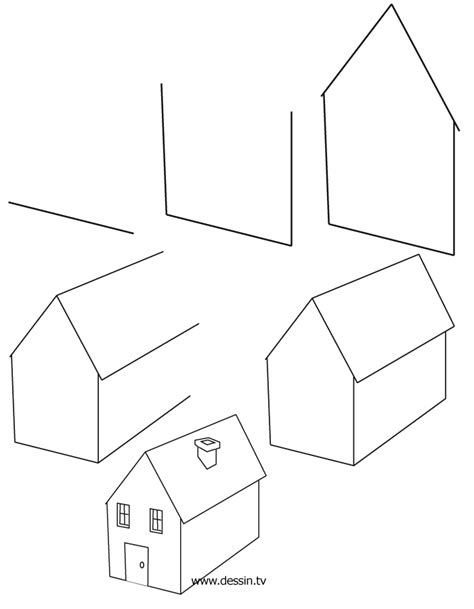 how to draw a 3d house drawing house