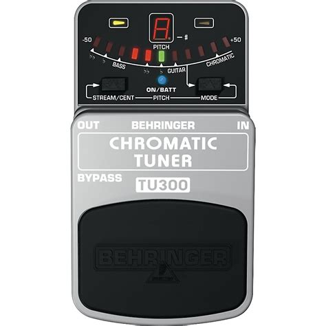 Behringer Tu300 Bass Guitar Tuner Effects Pedal behringer tu300 chromatic pedal tuner musician s friend