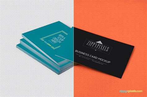card free stacked business card free mockup navy themes