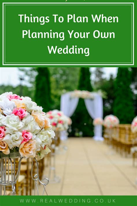 Planning Your Own Wedding by Things To Plan When Planning Your Own Wedding Real Wedding