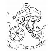 BMX Bike Coloring Page  Letscoloringpagescom Nice Pic 6 Free