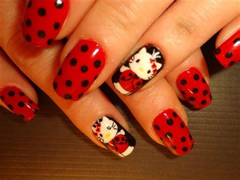 cute easy lady bug nail art youtube ladybug hello kitty nail art gallery