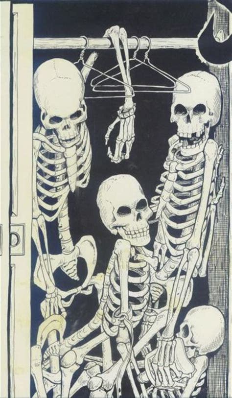 Skeleton In The Closet Idiom by Illustrating Idioms Skeletons In The Closet Ap