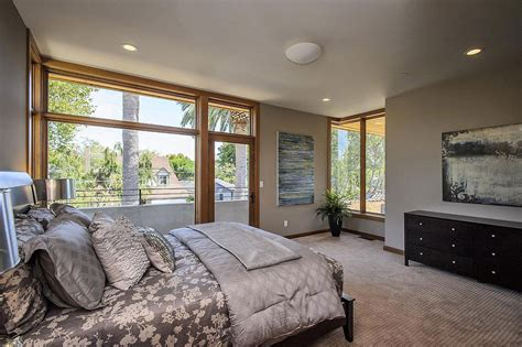 contemporary style home in burlingame california large window bedroom modern home in burlingame california