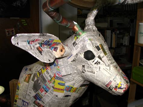 How To Make Paper Mache Heads - 17 paper mache deer diy guide patterns