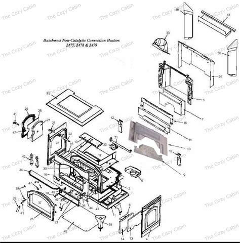 Vermont Castings Fireplace Parts by Dutchwest Small Cast Non Catalytic Stove 2477 The Cozy
