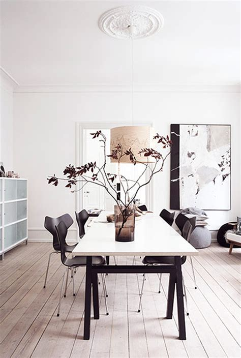 danish home decor futuristic white apartment with casual dining room in danish