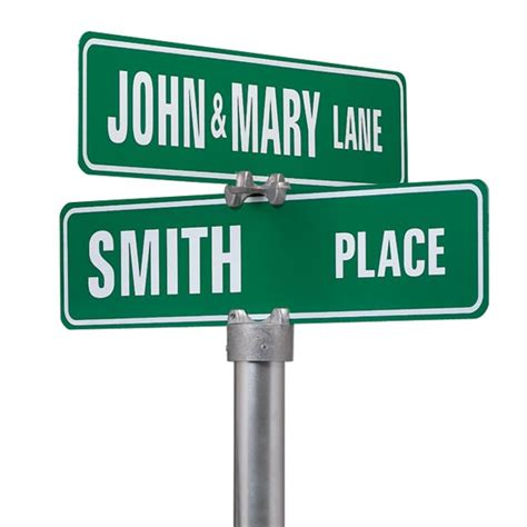 Home Goods Decor by Personalized Two Sided Street Sign Custom Street Signs