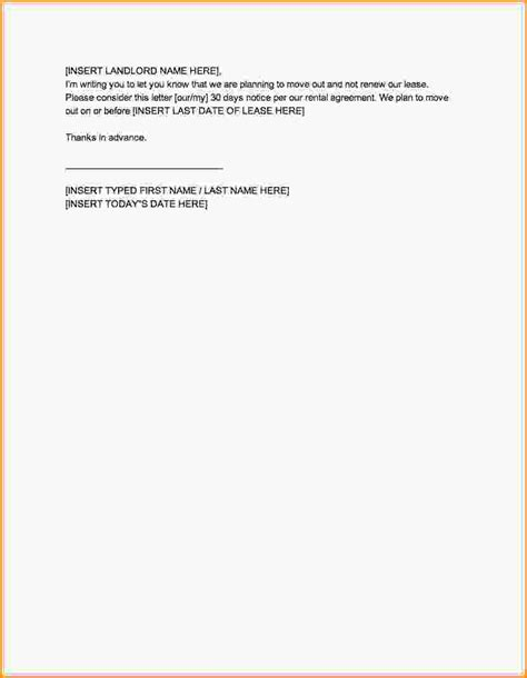 30 day notice to landlord template 30 days notice template