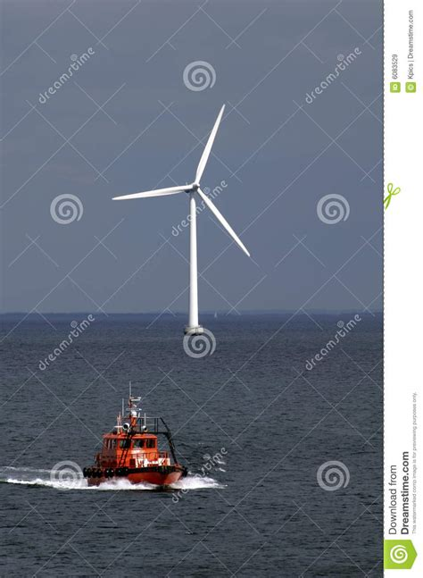 boat wind turbine boat and wind turbine stock image image of generator
