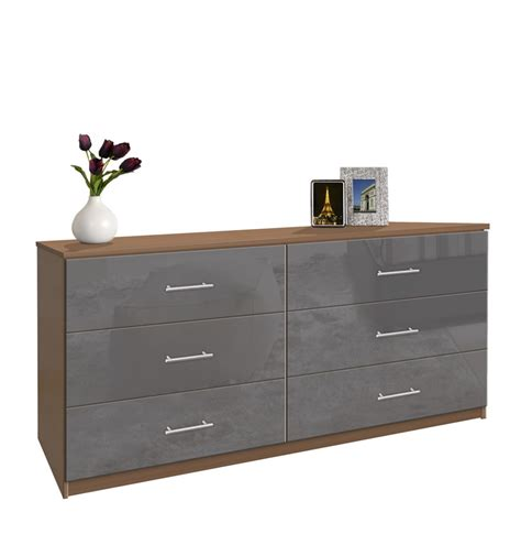6 drawer dresser chest of drawers contempo space