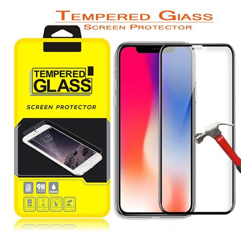 for iphone xs max 2018 xr xs 5d coverage edge 9h hd real premium temper glass ebay