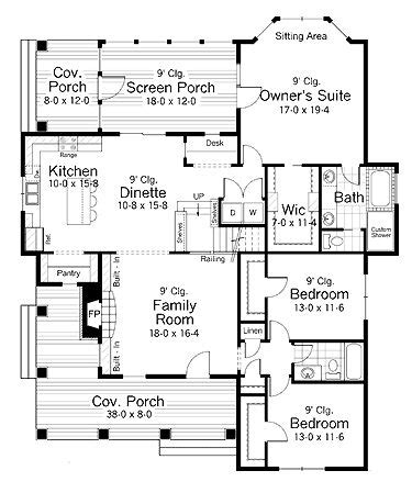 Country Farmhouse Floor Plans Polished One Story Country Home Hwbdo65704 Country