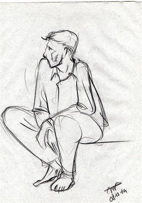 Sofa Drawing black sketch of a man sitting and waiting drawing by