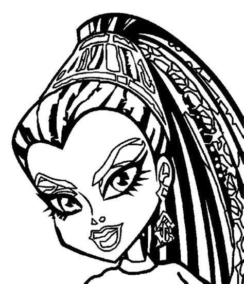monster high faces coloring pages face nefera de nile monster high coloring page monster