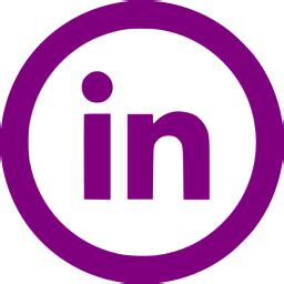 purple linkedin  icon  purple site logo icons