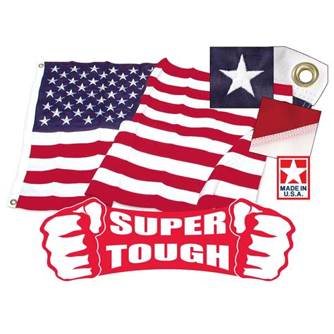 3ft x 5ft tough brand polyester american flag