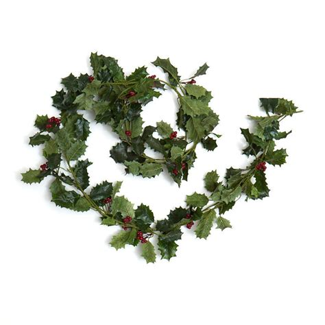 artificial holly garland christmas holiday florals