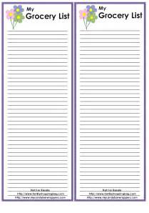 Free Printable Grocery List Template Free Printable Grocery Checklist