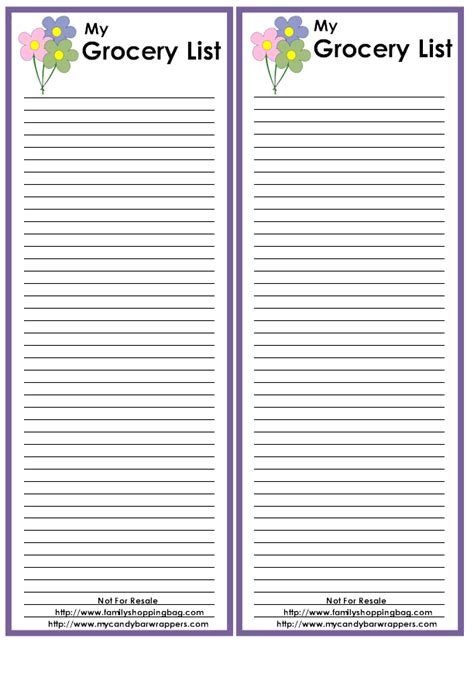 doc 778897 blank grocery shopping list template list