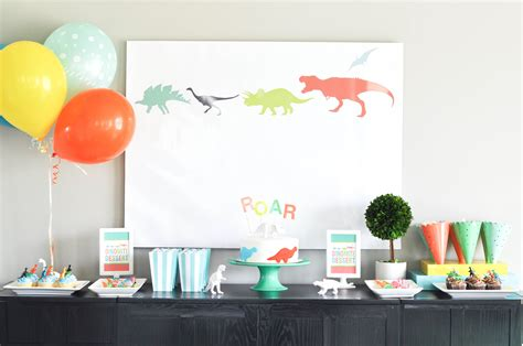 Birthday Decorations by Bodhi S Dinosaur Themed Third Birthday Dessert Table