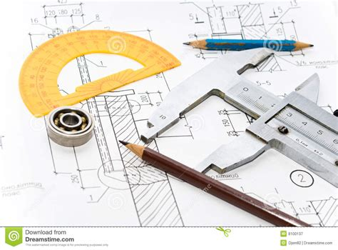 best tools for drawing drawing and tool stock image image of blueprint