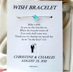 a wedding wish classic and groom a wedding wish wish bracelet wedding favor custom made for you