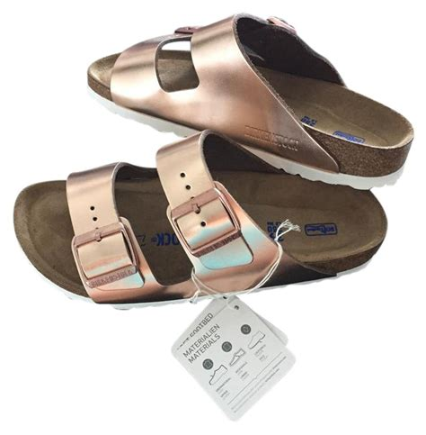 birkenstock arizona soft footbed metallic copper birkenstock metallic copper arizona soft footbed leather