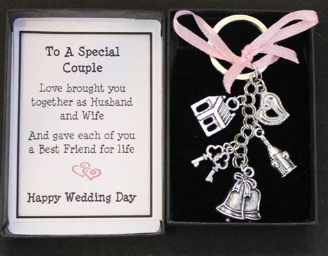 gifts for and wedding day gift keyring keepsake for and groom