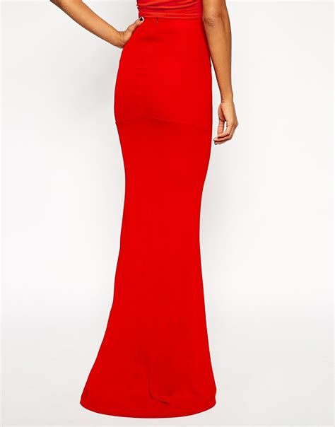 maxi skirt fitted dress ala