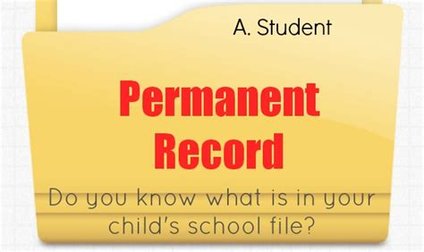 Do Misdemeanors Go On Your Permanent Record Do You What Goes On Your Child S Student Record